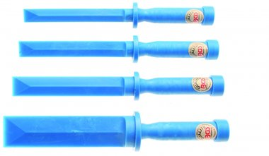 Jeu de grattoirs plastiques largeur 19 - 22 - 25 - 38 mm 4 pieces