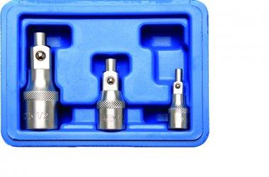 Jeu de rallonges magnetiques 6,3 mm (1/4) / 10 mm (3/8) / 12,5 mm (1/2) 3 pieces