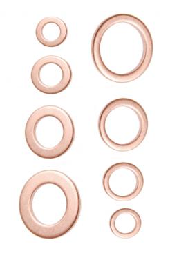 Assortiment de joints detancheite cuivre 150 pieces