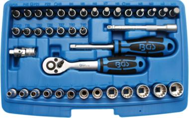 Coffret de Douilles Gear Lock 6,3 mm (1/4) 39 pieces