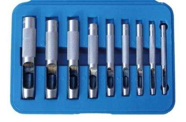 Ensemble de poincon creux 9 pieces, 3-12 mm