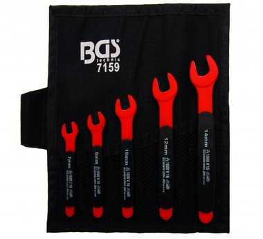 5-pieces VDE Open End Spanner Set, 7-14 mm