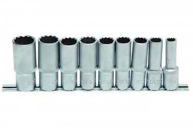 Ensemble Deep Socket 9 pieces, 12-pt., 1/2