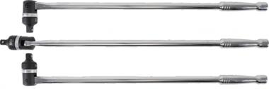 Poignee flexible avec t te a cliquet, 620 mm, 1/2