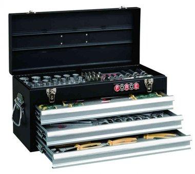 Coffre d'outils 3 tiroirs avec 116 pcs d'outils