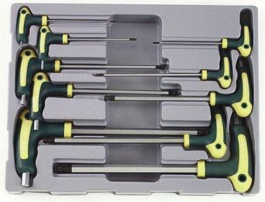 Module de 10 clés hexagonales tête sphérique poignée en T