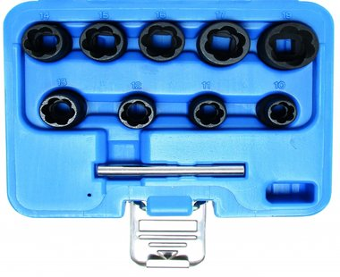 Ensemble a douille speciale Twist 10 pieces, 10-19 mm, 3/8