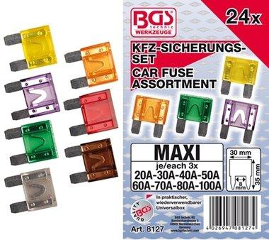 24 pieces automobile Maxi Fuse Set
