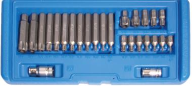 Jeu dembouts 10 mm (3/8) profil T (pour Torx) avec percage 26 pieces