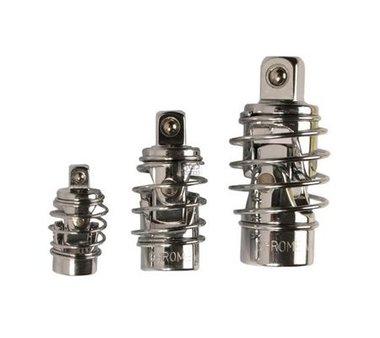 Jeux de douilles articulees 6,3 mm (1/4) / 10 mm (3/8) / 12,5 mm (1/2) 3 pieces