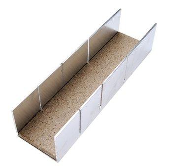 Boite onglets aluminium 245 x 65 x 55 mm