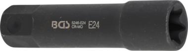 Douille de clé à douilles, profil E, extra longue 22 mm E24