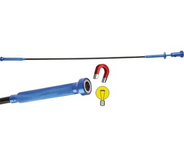 Outil combine pincette flexible-dispositif de levage magnetique-lampe 615 mm