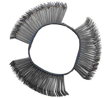 Brosse fil d'acier ronde coudee 103 x 23 x 0,7 mm