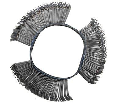 Brosse fil d'acier ronde coudee 103 x 23 x 0,5 mm