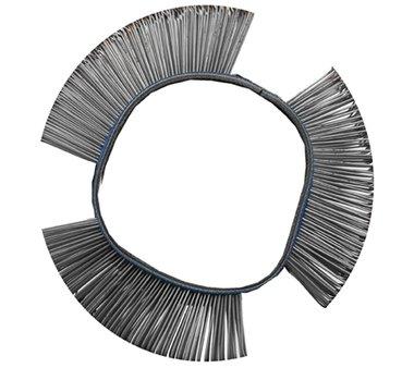 Brosse fil d'acier ronde droite 103 x 23 x 0,5 mm
