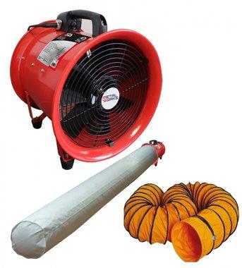Ventilateur extracteur 300 mm - 500 w avec tuyau et sac filtrant