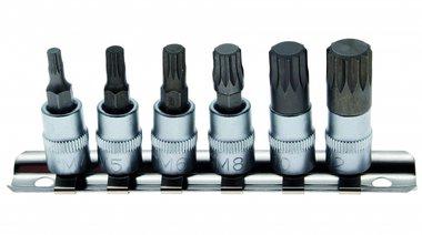 1/4 Bit Socket Set, Spline, M4 - M12