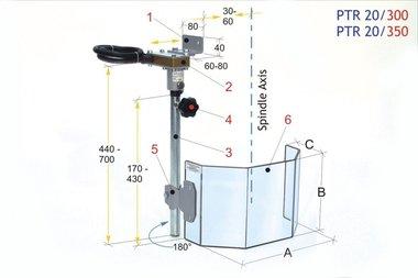Ecrans de protection pour grandes perceuses PTR 20/300, 3,90kg