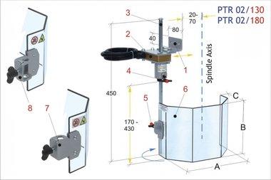 Ecrans de protection perceuses traditionnelles PTR 02/180, 2,60kg