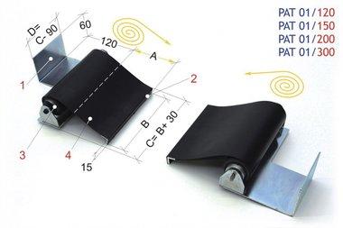Protection de tour vis-mere 1200mm, -1,60kg