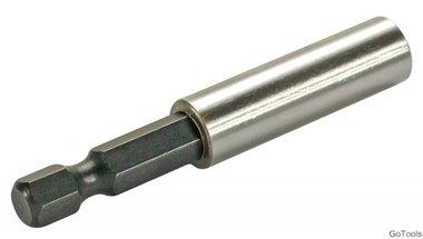 Porte-embout magnetique poussee six pans interieurs 6,3 (1/4) 60 mm