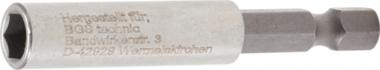 Porte-embout magnetique, extra fort poussee six pans interieurs 6,3 (1/4) 60 mm