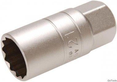 Douille de bougie a retenue en caoutchouc douze pans 12,5 mm (1/2) 21mm