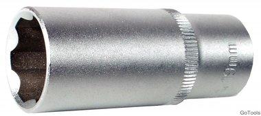 3/8 Douille longue 6 pans, Super Lock, 13 mm