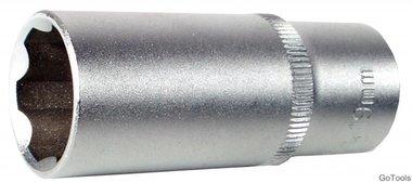 3/8 Douille longue 6 pans, Super Lock, 16 mm