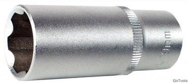 3/8 Douille longue 6 pans, Super Lock, 18 mm
