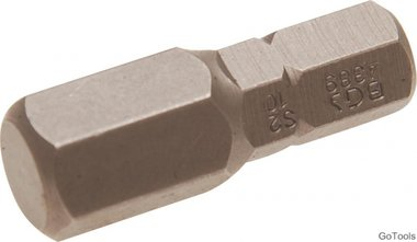 Embout Hex 10 mm, 30 mm long, 5/16