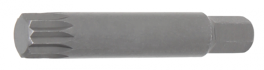 Embout longueur 75 mm 10 mm (3/8) denture multiple intérieure (pour XZN) M14