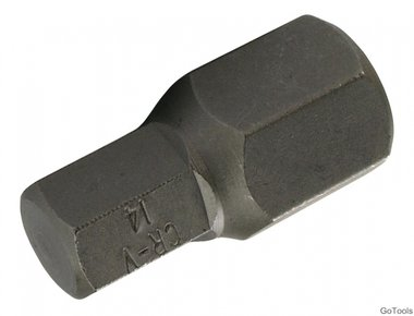 Embout HEX long 30 mm, 14 mm, 3/8