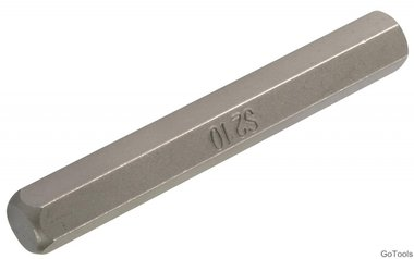 Int. Hex. Bit 75 mm lang, 10 mm, 3/8