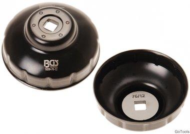 Cle a filtres cloches douze pans 76 mm pour Fiat, Mercedes-Benz, Renault