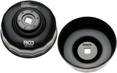 Cle a filtres cloches 15 pans diametre 80 - 82 mm