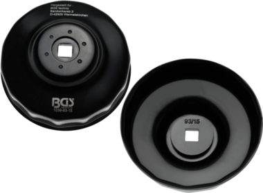 Cle a filtres cloches 15 pans 93 mm pour Honda, Mazda, Mitsubishi, Nissan, Volvo