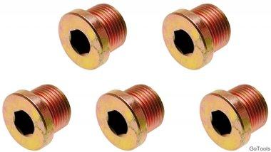 Bouchons de vidange pour Art. 126 M17 x 1,5 mm 5 pieces