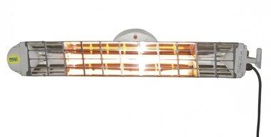 Double radiateur infrarouge avec 2 lampes