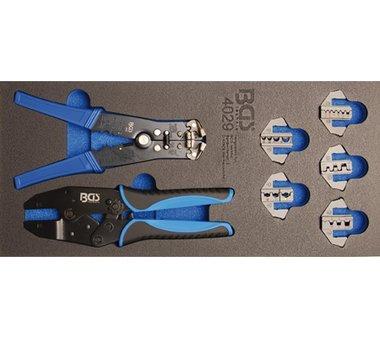 Porte-outils 1/3: Outil a sertir et pinces a denuder 12 pcs