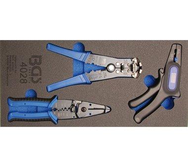 Porte-outils 1/3: pince a denuder 3 pcs