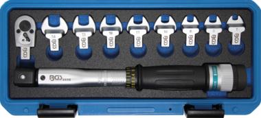 Jeu de cles dynamometrique 6,3 mm (1/4) 6 - 30 Nm 10 pieces
