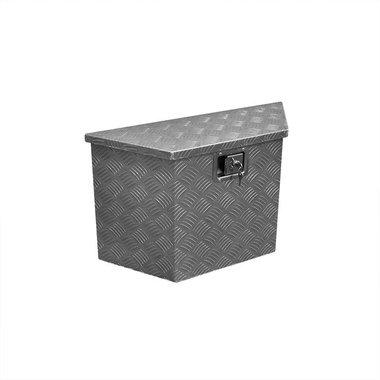 Boite outils aluminium pour remorque 700/380 x 240 x H420mm