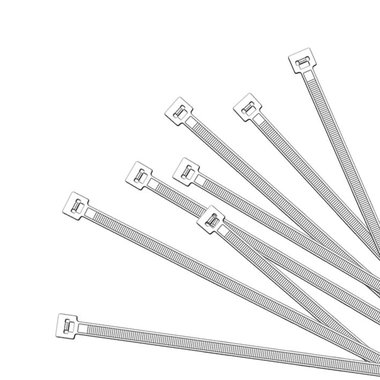 Colliers de serrage 280x4,5mm 1000 pieces blanc