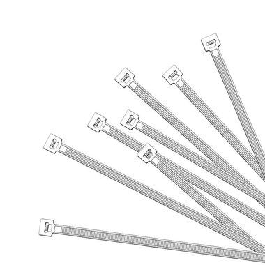 Colliers de serrage 200x2,5mm 1000 pieces blanc