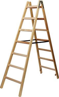 Echelle en bois 2x7 echelons Hauteur de l'echelle cadre 1,84m