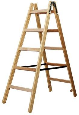 Echelle en bois 2x5 echelons Hauteur de l'echelle cadre 1,32m