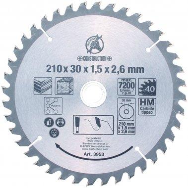 Lame de scie circulaire carbure, 210 mm