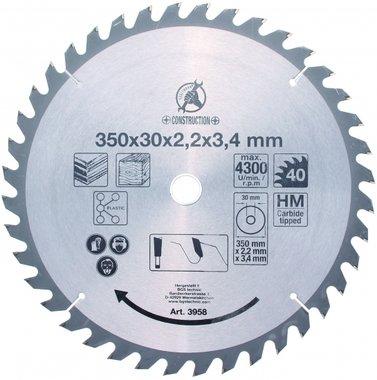 Lame de scie circulaire en carbure, 350 mm
